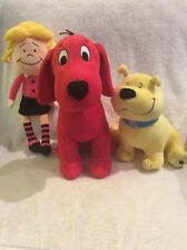 Lot Of 3 Kohl's Clifford The Big Red Dog, T-Bone, Emily Elizabeth Stuffed Plush