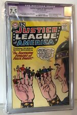 JUSTICE LEAGUE OF AMERICA #10 - CGC 7.5 - 1ST FELIX FAUST
