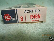 8 AC GM Spark Plugs R46N Acniter 4 Thin Green Rings 5612826 Chevelle Camero nova