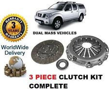 FOR NISSAN NAVARA D40 PATHFINDER 2.5DT DCi 2005-> DUAL MASS CLUTCH KIT COMPLETE