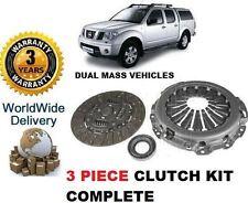 Pour Nissan Navara D40 Pathfinder 2.5 DT DCI 2005 - & GT DOUBLE MASSE EMBRAYAGE KIT COMPLET