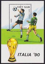 VIETNAM Bloc N°48** Bf  Football Italia 90, 1989 Vietnam 2015 Italy Soccer MNH