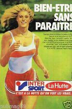Publicité advertising 1985 Magasins de sport Inter sport la Hutte