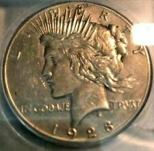1928 Peace dollar ICG AU-55 CLEANED KEY DATE NO RESERVE