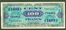 FRANCE 100 FRANCS VERSO FRANCE de 1944  ETAT: SPLENDIDE  2 épinglages  # 542