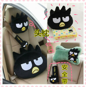 black penguin stuffed plush pillow cushion belt car decoration cartoon