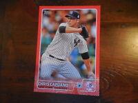 2015 Topps Red Jumbo numbered #/10 5x7 Chris Capuano Yankees #534