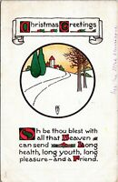 1913 Raphael Tuck Landscape Christmas Series 537 Antique Postcard HA