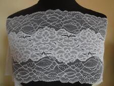 Französische elastische Spitze,Spitzenborte,Lace,stretch in hell grau 20cm breit