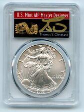 2003 $1 American Silver Eagle Dollar PCGS MS70 Thomas Cleveland Arrows