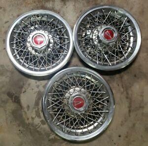 """3 Pontiac Grand Prix Le Mans Wire Hubcap Wheel cover 14"""" Cap 78-81"""