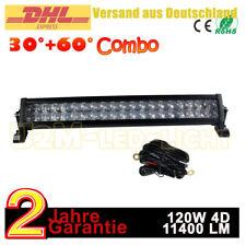 """22"""" 120W 4D Light Bar LED Arbeitsscheinwerfer Lichtbalken boot Quad SUV 12V 24V"""