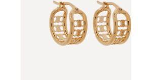 Signed Celine Designer Gold Tone Maillon Triomphe Multi Hoop EARRINGS