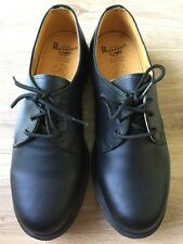 DR MARTENS SHOES SIZE 10 DM's INDUSTRIAL. NON SAFETY UNIFORM. BLACK. NEW NO BOX.