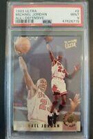 1993 Fleer Ultra All-Defensive #2 Michael Jordan Bulls PSA 9 MINT *RARE LOW POP*