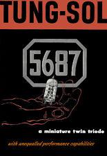 Tung-Sol 5687 Miniture Twin Triode Radio Repair Shop Poster 13 x 19 Giclee