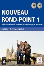 NOUVEAU ROND-POINT 1.(LIVRE+CD)+(PORTFOLIO)/COURS DE FRANCA