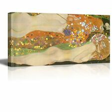 """Wall26 Water Serpents Ii Water Snakes by Klimt Giclee Canvas Prints - 24"""" x 48"""""""