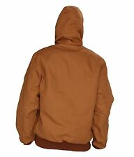 Carhartt Men Thermal Lined Duck Active Jacket (J131BRN) Hooded Brown Size M -New