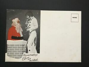 Elvis 1971 Rare Christmas Card From The Office Of Colonel Parker