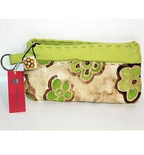 Pochette Thun tessuto originale beige verde con porta chiavi borsellino