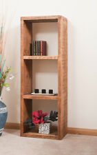 SOLID  RUSTIC SAWN PLANK | TRIPLE DISPLAY CUBE | BOOKCASE | HANDMADE