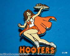 HOOTERS GIRL BRUNETTE SERVER WAITRESS PIN (STAFF WEST COAST) SUPER HERO/CAPE