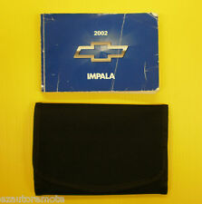Impala Sedan 02 2002 Chevrolet Owners Owner's Manual With Case V6  V8 LS