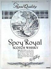 1922 H & A Gilbey 'SPEY ROYAL' Scotch Whisky Advert - Vintage Original Print AD