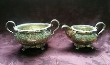 Irish Sterling Silver Footed Creamer and Waste Bowl