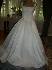 IVORY EMBROIDERED 2 PIECE BRIDAL GOWN WEDDING DRESS SIZE 10  BY MAGGIE SOTTERO !