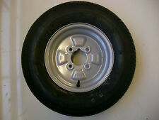 "145 80 B10 WHEEL AND TYRE 4""PCD 4 PLY 375 KG RATED  67MM CENTRE BORE  NEW ITEM"