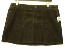 NEW ladies size 8 Old Navy corduroy SKIRT brown mini pleated