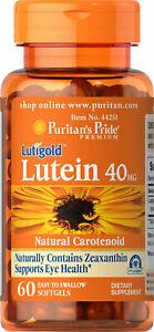 Puritan's Lutigold Lutein 40mg Zeaxanthin 1600mcg 60 Softgels