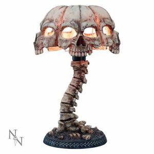 ATROCITY 37.5cm Spine & Skull Bone Table Lamp Skeleton Nemesis Now - FREE P+P