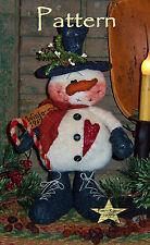 Primitive Patti's Ratties Winter Christmas Snowman Doll Paper Pattern #259