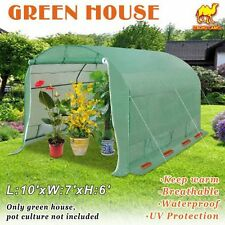 10'X7'X6' Larger Walk In Greenhouse Outdoor Plant Gardening