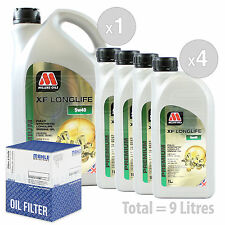 Engine Oil and Filter Service Kit 9 LITRES Millers Oils XF LONGLIFE 5w-40 9L