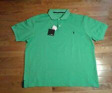 Ralph Lauren RLX Men's Big & Tall Stretch Pima Cotton Polo Shirts Lime Green 2XB