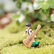 10Pcs Guitar Miniature Dollhouse Bonsai Ornament For Plant Pot Fairy Decor
