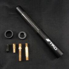 "Black 4.7"" Carbon Fiber Sports Car Antenna Adjustable TRD logo Aerials Fit All"