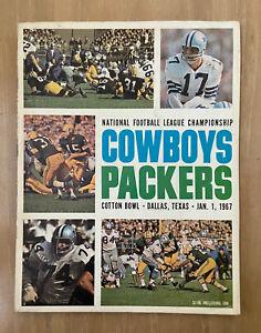 VINTAGE 1966 NFL CHAMPIONSHIP PROGRAM DALLAS COWBOYS @ GREEN BAY PACKERS