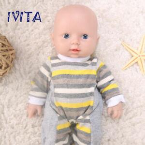 """IVITA 12"""" Handmade Silicone Reborn Baby Doll Realistic Cute Boy Newborn Playmate"""
