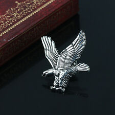 Mens' Antique Silver/Gold Vintage Eagle in Flight Badge Collar Brooch Pins