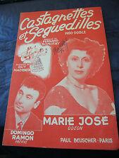 Partitur Kastagnetten et Seguedilles Marie José Domingo Ramon 1954 Music -blatt