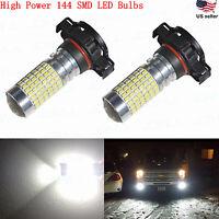 JDM ASTAR 2400LM 2504 PSX24W 12276 High Power 144-SMD White LED Fog Lights Bulbs