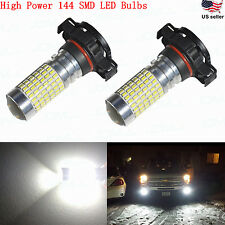 JDM ASTAR 2400LM 2504 PSX24W 12276 High Power 144-SMD White LED Fog Lights Bulbs