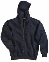 Tri-Mountain Men's Full Zip Sueded Finish Rib Knit Hooded Sweatshirt. 690