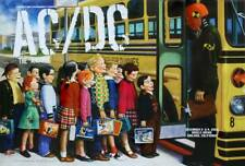AC DC 2008 OAKLAND concert poster RANDY CHAVEZ signed 19x28 Mint