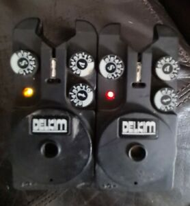2 x Delkim txi plus bite alarm 1 red 1 yellow both working .